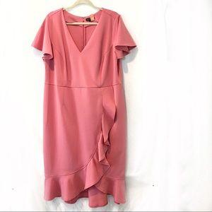 Plus size pink stretch dress size 20
